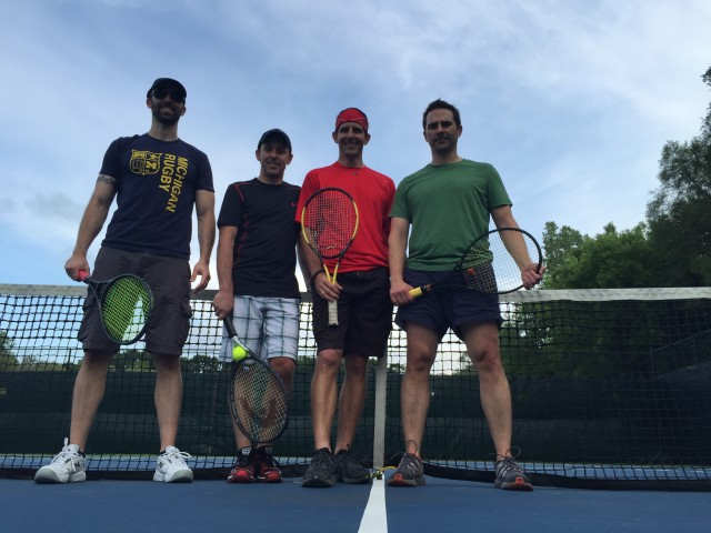 SFC #39:  Tennis at Fish Hatchery Park in Northville, Deadwood Grill for dinner/drinks