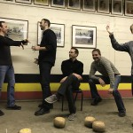 Team Photo Reenactment: Feather Bowling at Cadieux Cafe and Fitzgerald Trivia